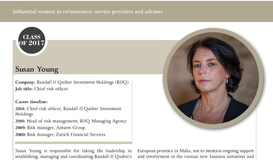 Influential women in re/insurance