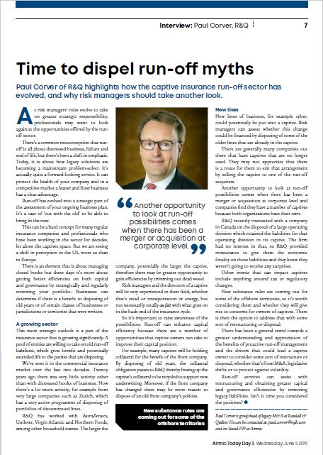 Time to dispel run-off myths